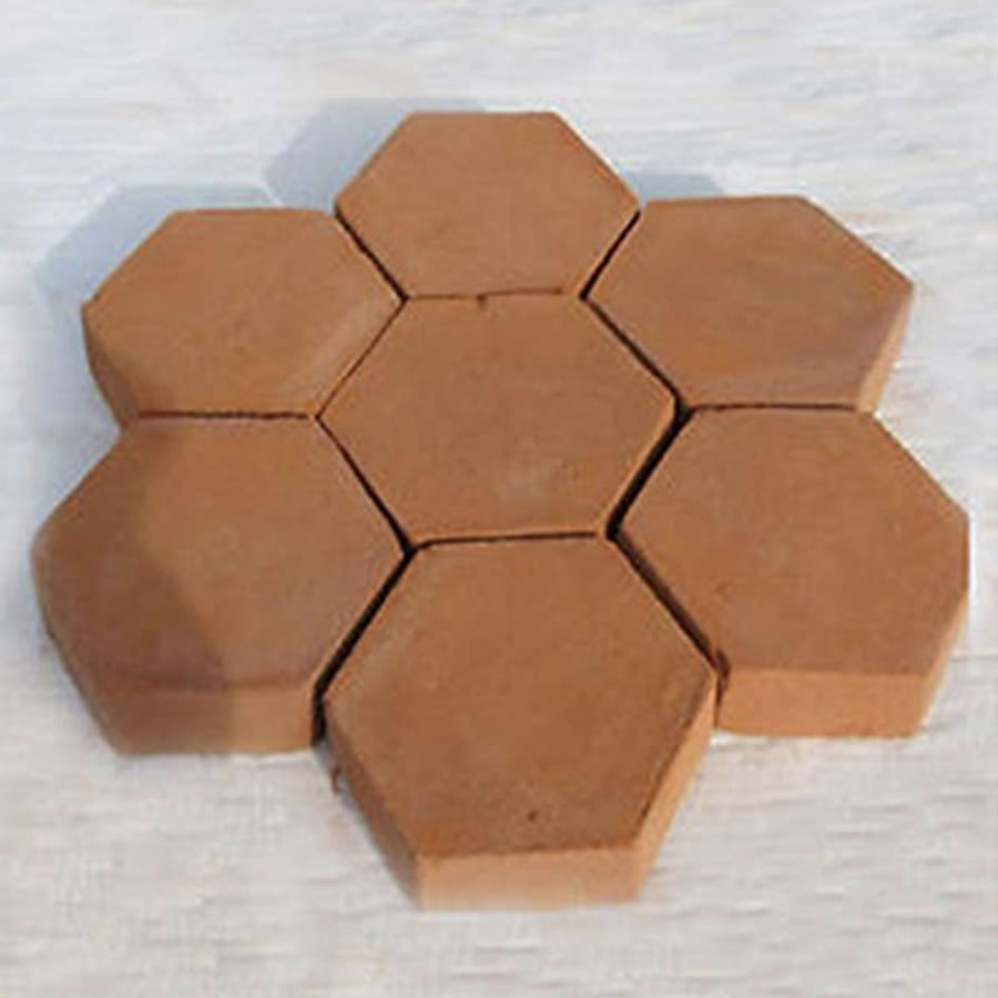 diy hexagon concrete garden path mold