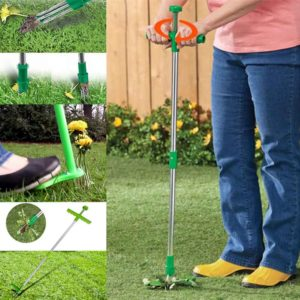 portable aluminum weed puller grass remover