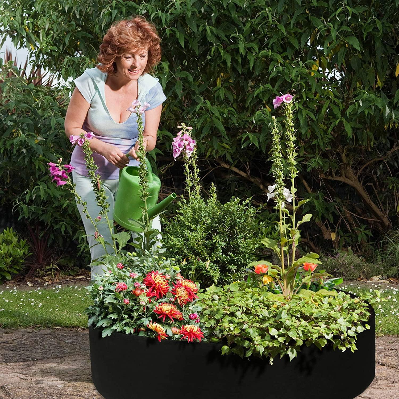 large round raised planter garden bed bag
