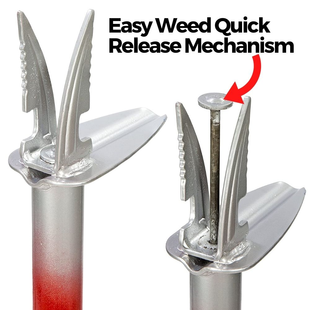 upright weed puller tool